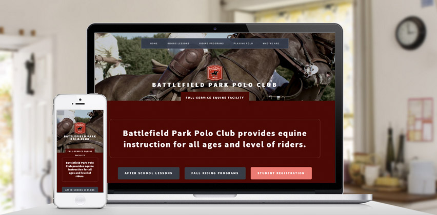 Responsive Web Design for Battlefield Park Polo Club